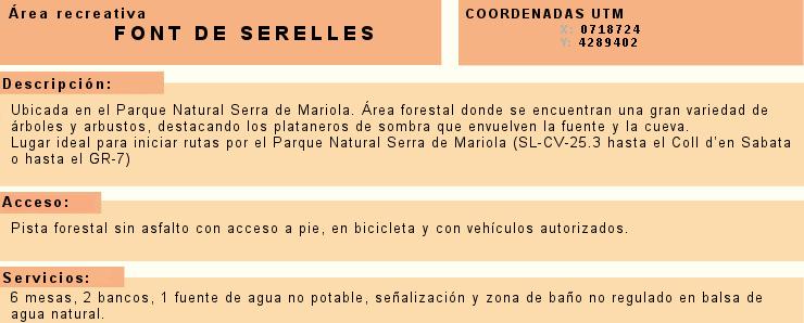 Foto Información Font de Serelles