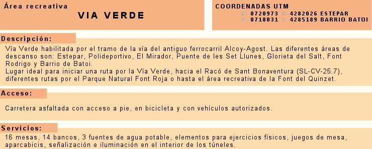 Foto Información Vía verde