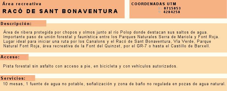 Foto Información Racó Sant Bonaventura